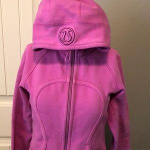 Lululemon scuba hoodie size 8 GUC pink